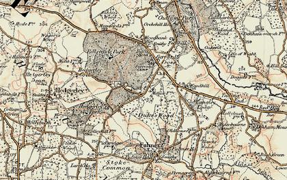 Old map of Gerrards Cross in 1897-1898