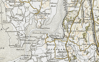 Old map of Glasson in 1903-1904