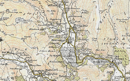 Old map of Grasmere in 1904