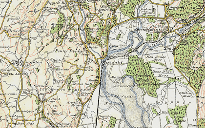 Old map of Greenodd in 1903-1904