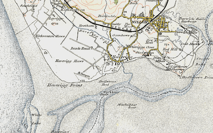 Old map of Haverigg in 1903-1904