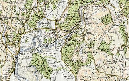 Old map of Haverthwaite in 1903-1904