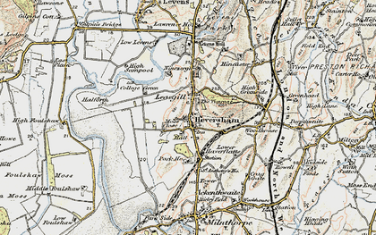 Old map of Heversham in 1903-1904