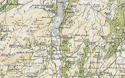 Old map of High Nibthwaite in 1903-1904