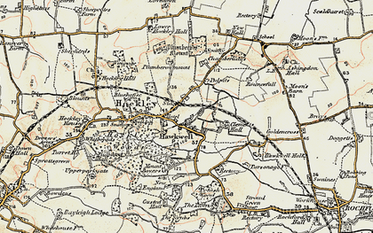 Old map of Hockley in 1898