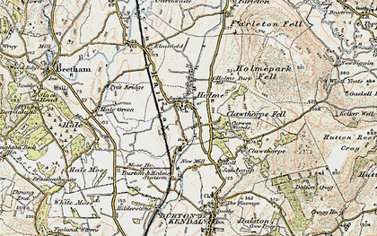 Old map of Holme in 1903-1904