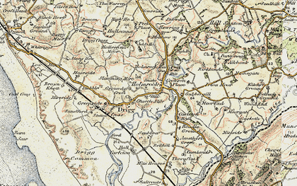 Old map of Holmrook in 1903-1904