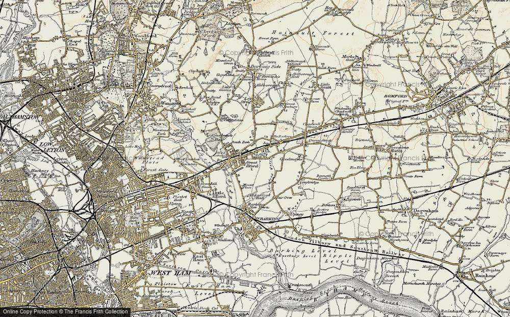 Old Map of Map of Ilford in 1897-1898