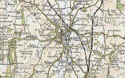 Old map of Kendal in 1903-1904