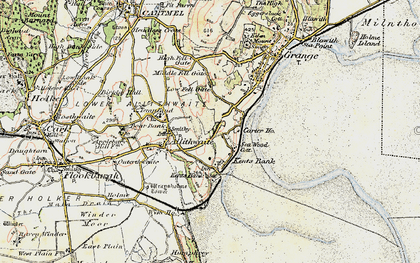 Old map of Kents Bank in 1903-1904