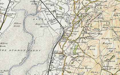 Old map of Kirkby-in-Furness in 1903-1904