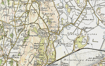 Old map of Lindale in 1903-1904