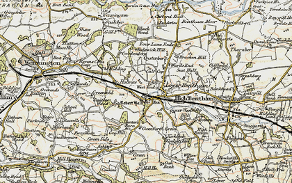 Old map of Low Bentham in 1903-1904