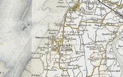 Old map of Lower Heysham in 1903-1904