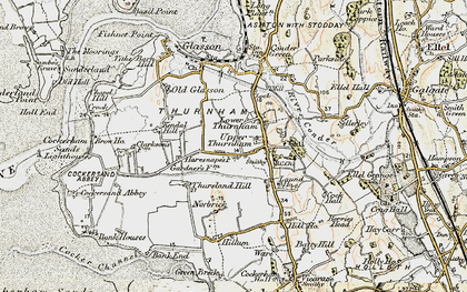 Old map of Lower Thurnham in 1903-1904