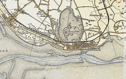 Old map of Lytham in 1903