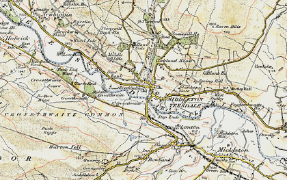 Old map of Middleton in Teesdale in 1903-1904