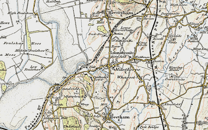 Old map of Milnthorpe in 1903-1904