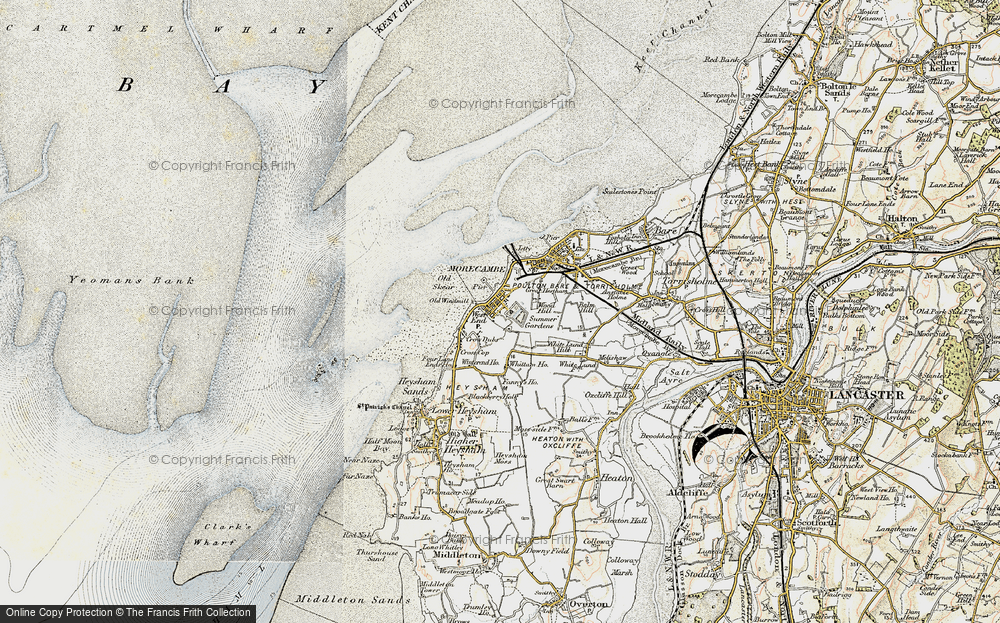 Old Map of Map of Morecambe in 1903-1904