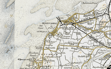 Old map of Morecambe in 1903-1904