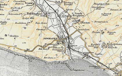 Old map of Newhaven in 1898