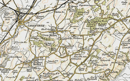 Old map of Over Kellet in 1903-1904