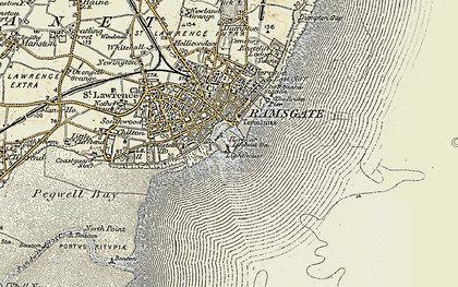 Old map of Ramsgate in 1898-1899