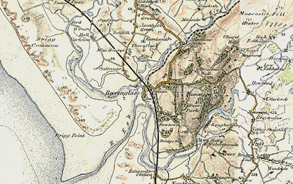 Old map of Ravenglass in 1903-1904
