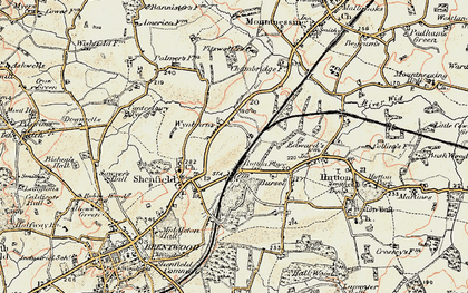 Old map of Shenfield in 1898