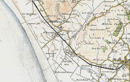 Old map of Silecroft in 1903-1904