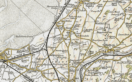 Old map of Slyne in 1903-1904