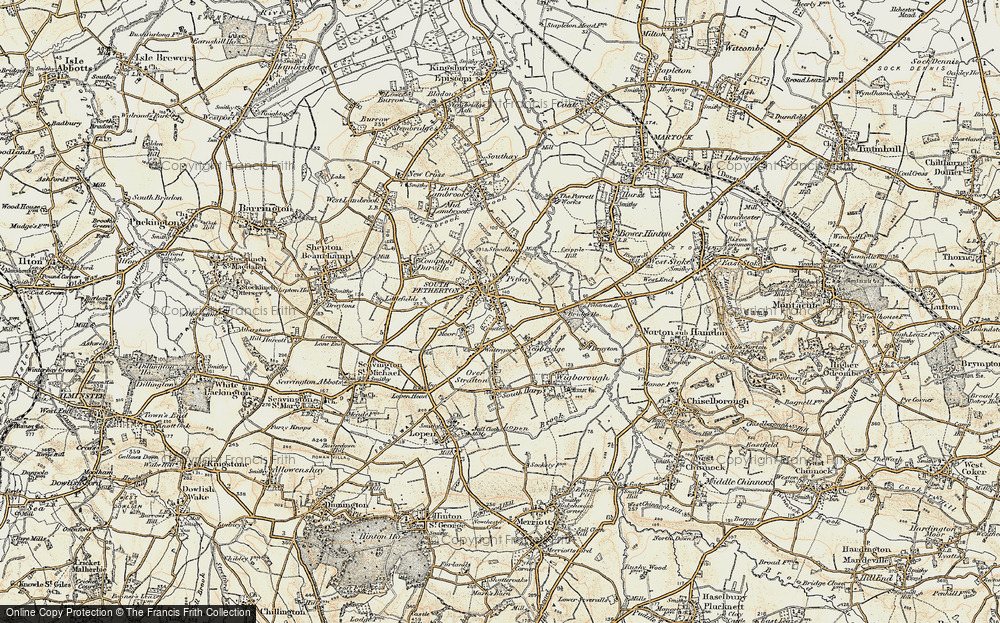 Old Map of Map of South Petherton in 1898-1900