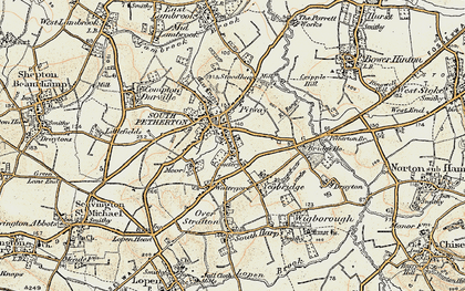 Old map of South Petherton in 1898-1900
