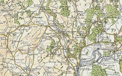 Old map of Spark Bridge in 1903-1904