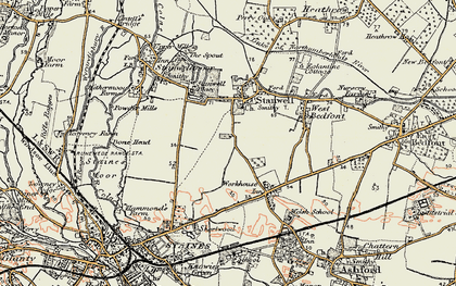 Old map of Stanwell in 1897-1909