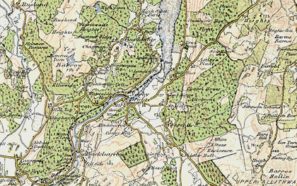 Old map of Staveley-in-Cartmel in 1903-1904