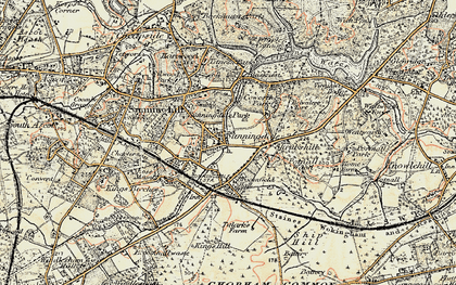 Old map of Sunningdale in 1897-1909