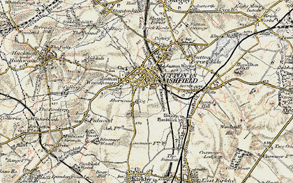 Old map of Sutton In Ashfield in 1902-1903