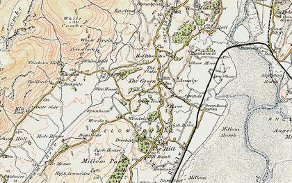 Old map of The Green in 1903-1904