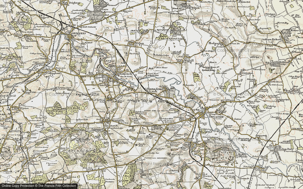 Old Map of Map of Toulston