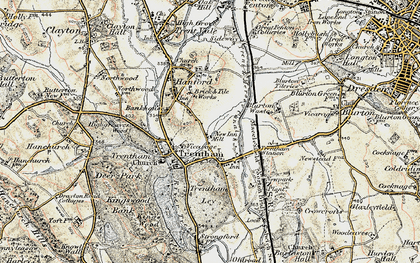 Old map of Trentham in 1902
