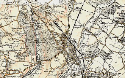 Old map of Watford in 1897-1898