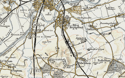 Old map of West Bridgford in 1902-1903