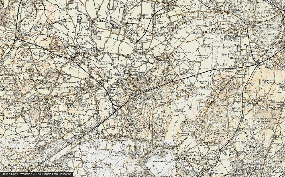 Old Map of Map of Weybridge in 1897-1909