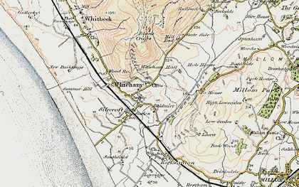 Old map of Whicham in 1903-1904