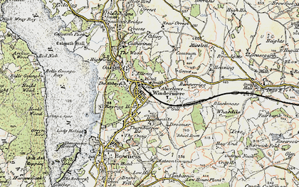 Old map of Windermere in 1903-1904