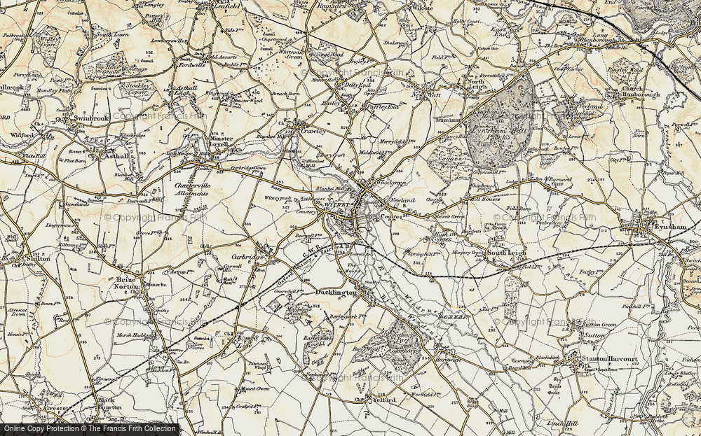 Old Map of Map of Witney