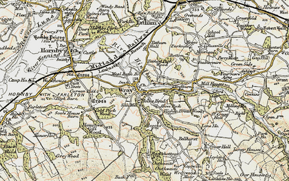 Old map of Wray in 1903-1904