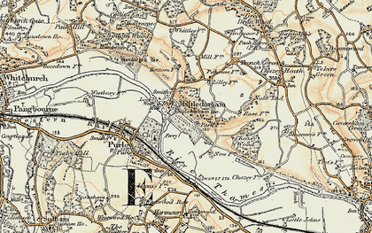 Old map of Mapledurham in 1897-1900
