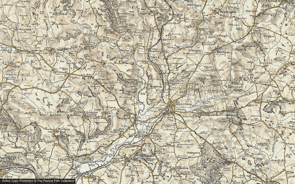 Old Map of Mapleton, 1902 in 1902